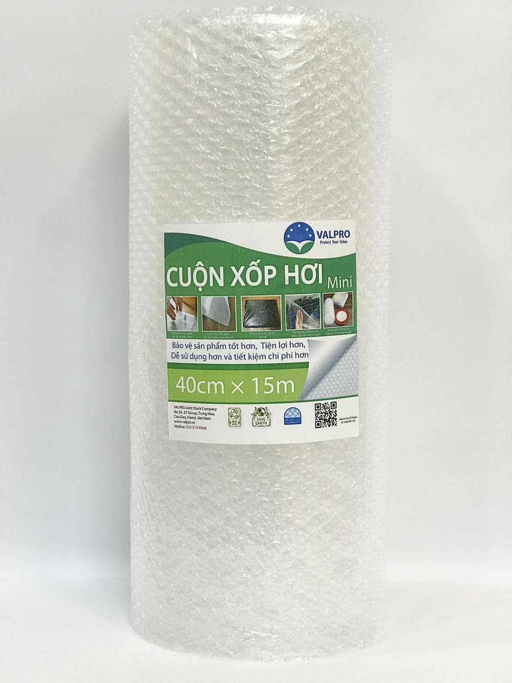 Cuộn xốp hơi mini 40cm x 15m